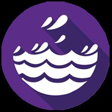 Ocean Water Logo - Alkaline Water Delivery