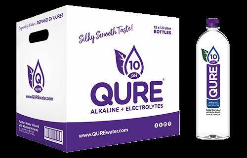 QURE Water Box plus 1.5Liter QURE Alkaline Bottled Water