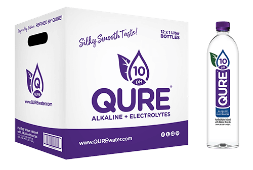 QURE Water Box plus 1Liter QURE Alkaline Bottled Water