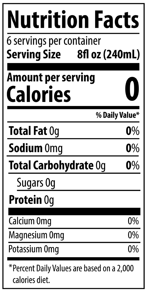 QURE 10pH Alkaline Water 1.5L Nutrition Facts
