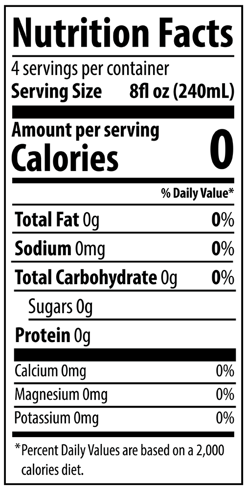 QURE 10pH Alkaline Water 1L Nutrition Facts