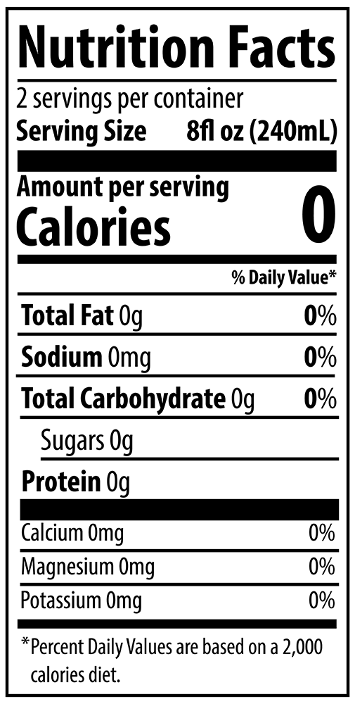 QURE 10pH Alkaline Water 500mL Nutrition Facts