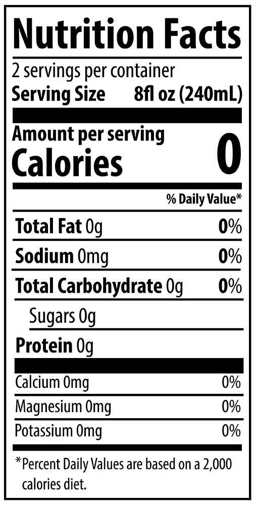 QURE Water 500mL Lemon Ginger Nutrition Facts