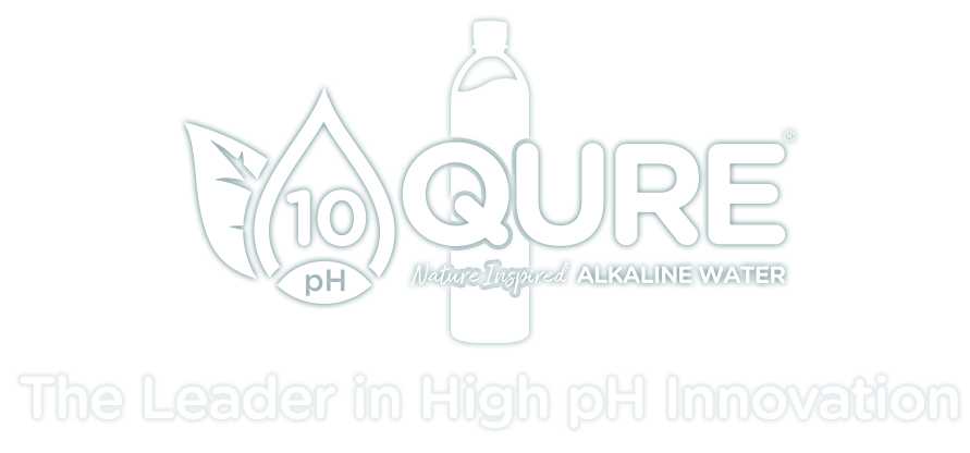 QURE 10 pH Nature inspired Alkaline Water Logo