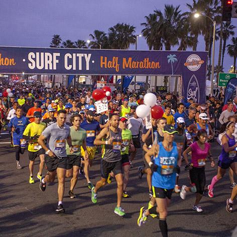 Surf City Marathoners starts running